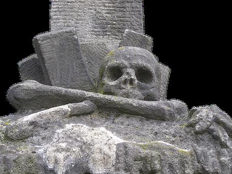 Skull, Sculpture, Stone Figure, Transience
