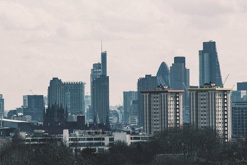 London, England, Skyscraper, Skyline, Skyscrapers