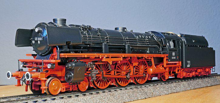 Steam Locomotive, Model, Br 03-10, Express Train