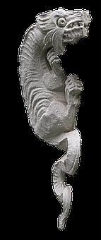 Dragon, Lindwurm, Figure, Sculpture, Stone Figure