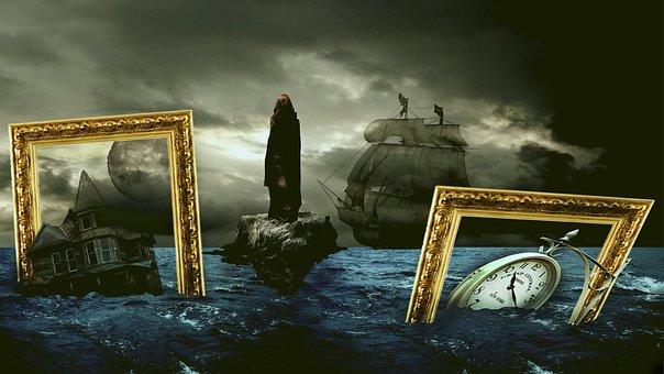 Fantasy, Surreal, Landscape, Mysterious, Magic