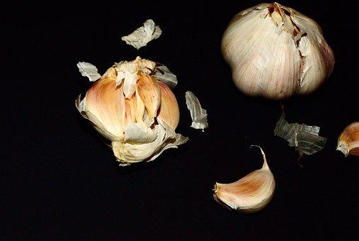 Garlic, Black, Food, Seasoning, Taste, Tasty, White