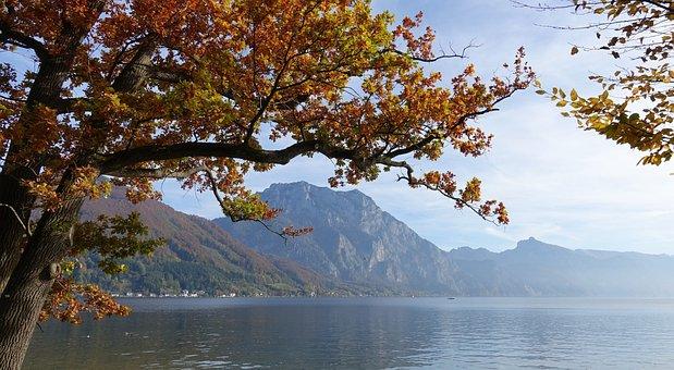 Traunsee, Autumn Mood, Fall Foliage, Salzkammergut
