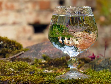 Glass, Drink, Reflection, Air, In The Sun, Water