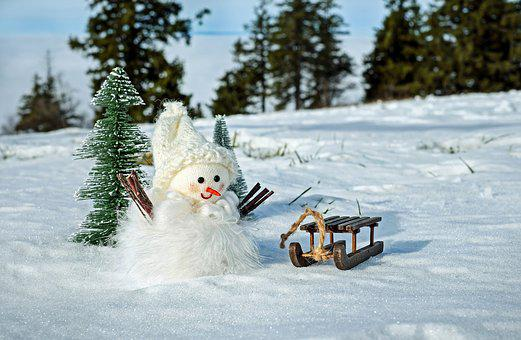 Snow Man, Snow, Winter, Cold, Wintry, Figure, Eismann