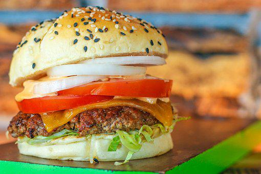 Classic Burger, Lunch, Break, Hamburger, Burger, Food