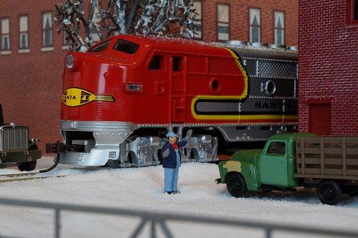 Model Train, Model Railway, Santa Fe, Diesel Locomotive