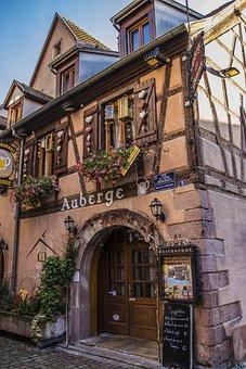 France, Alsace, Truss, Restaurant, Old Town