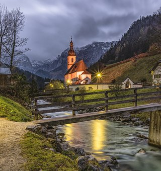 Chapel, Church, Ramsau, Berchtesgaden, Alpine, Building