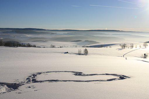 Winter, Ore Mountains, Snow, Cold, Blue Sky, Snowy