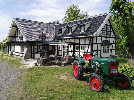 Tractor, Campaign, Germany, Tractors, Rusty, Work