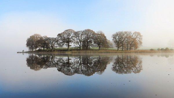 Esthwaite, Lake, Cumbria, England, Water, Scenery