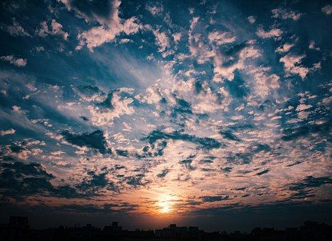 Sunrise, Nature, Wide, Morning, Summer, Landscape