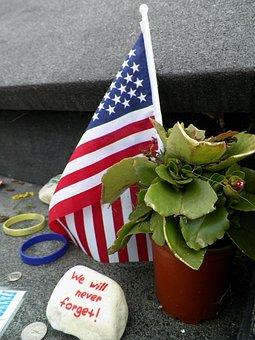 Memorial, Flight 93, 9 11, Flag, Tragedy