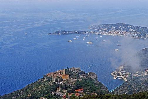 Bay Of Eze, Côte D ' Azur, Cap Ferrat, Mediterranean