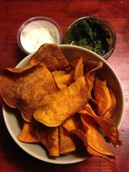 Paleo Chips, Sweet Potato Chips, Healthy, Yam