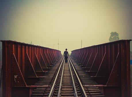 Bridge, Alone Boy, Boy, Lonely Boy Walking