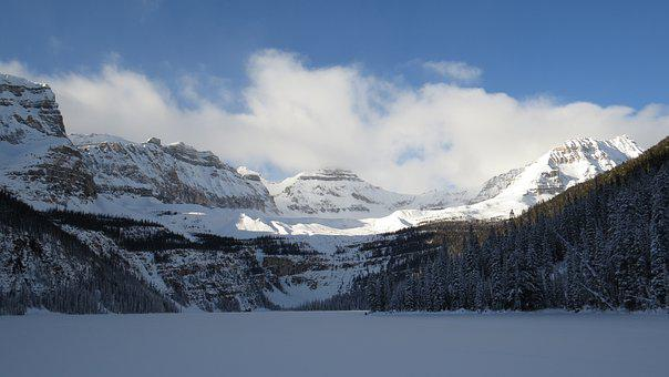 Boom Lake, Banff National Park, West Canada, Winter