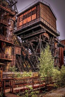 Coal, Tower, Industry, Vintage
