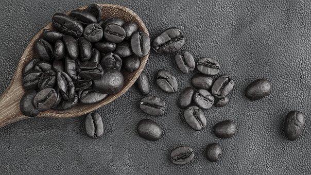 Coffee, Cafe, Food, Black Background, Black, Caffeine