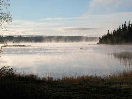 Lake, Dawn, Water, Scene, Calm, Morning, Outdoor