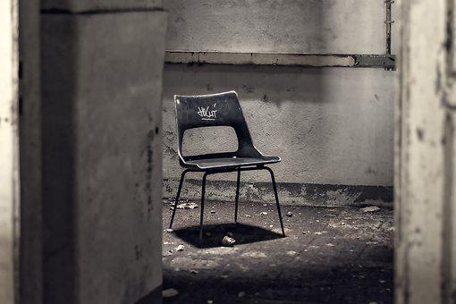 Chair, Interrogation, Torment, Atmosphere, Lost Places