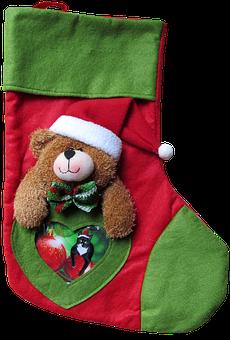 Christmas, Stocking, Gifts, Decoration