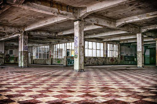 Lost Places, Hall, Columnar, Pforphoto, Lapsed