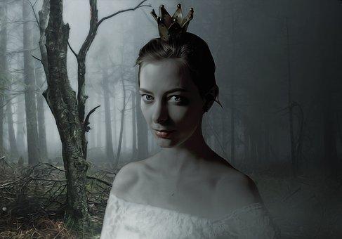 Fantasy, Gothic, Dark, Deep, Deep Dark Forest, Portrait
