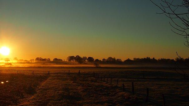 Sunset, Dawn, Sun, Evening, Landscape, Nature, Sky