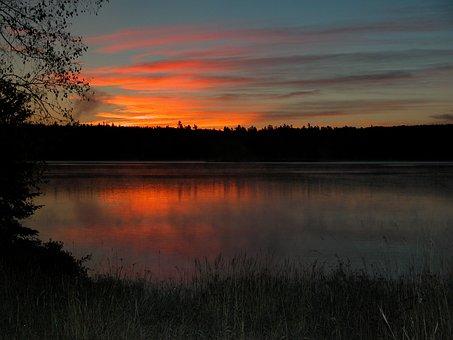 Lake, Dawn, Nature, Water, Morning, Peaceful, Outdoor