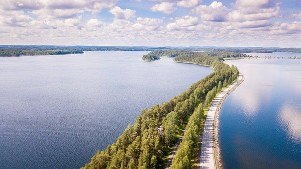 Finnish, Punkaharju, Landscape, Summer, Lake