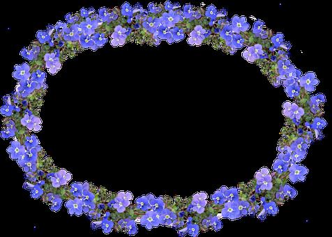 Frame, Blue, Floral