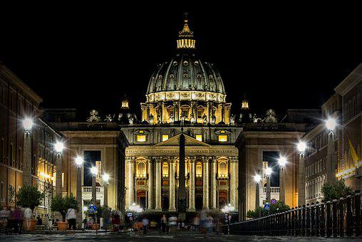 Rome, Lazio, Italy, Bridge, Basilica