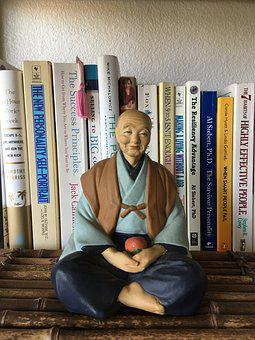 Statue, Asian Man, Meditative Pose, Meditation