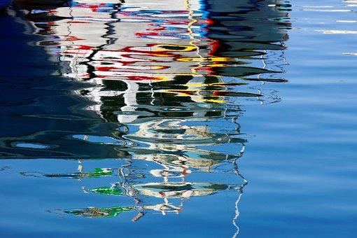 Water, Mirroring, Malta, Colorful, Blue, Bright, Sea