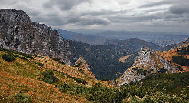 Landscape, Mountains, Tatry, Trail, Top View, Poland