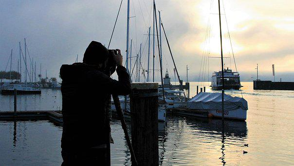 Sunrise, Morning, Lake, Nature, Dawn, Photographer