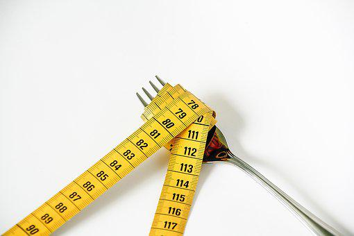 Fork, Tape Measure, Diet, Nutrition, Weight