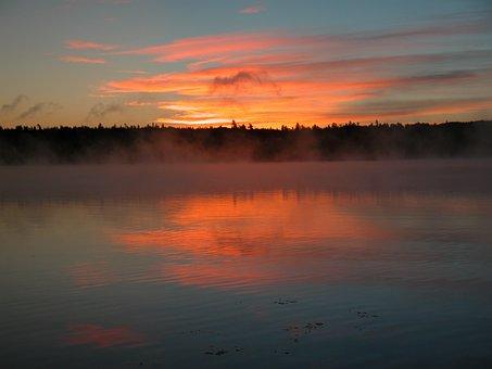 Dawn, Lake, Outdoor, Sunrise, Water, Nature, Morning