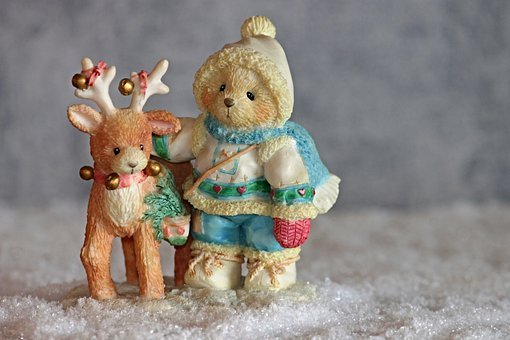 Figure, Bears, Reindeer, Cute, Funny, Bear, Fun, Teddy