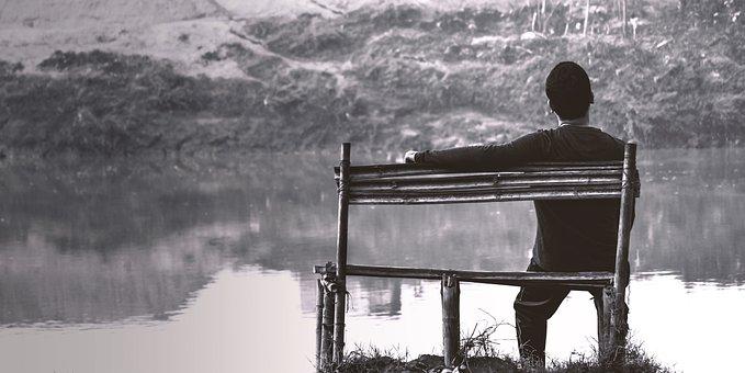 Alone, Boy, Alone Boy, River Side, Sitting Lonely