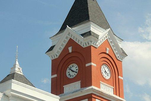 Clock, Steeple, Tower, Landmark, Roof