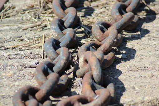 Chains, Rust, Metal, Rusty, Scrap, Boat, Iron, Port