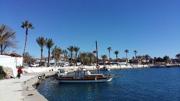 Turkey, Side, Resort, Palm Trees