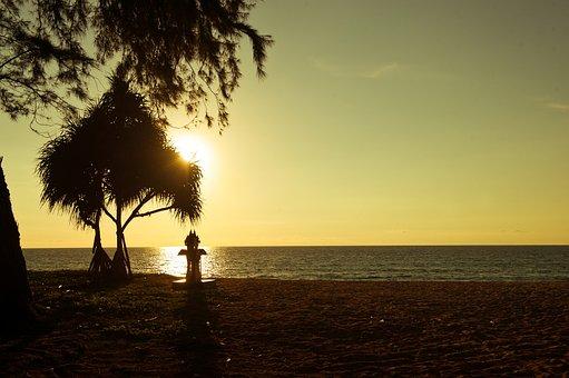 Nature, Sea, Thailand, Beach, Solar, Wood, New Party