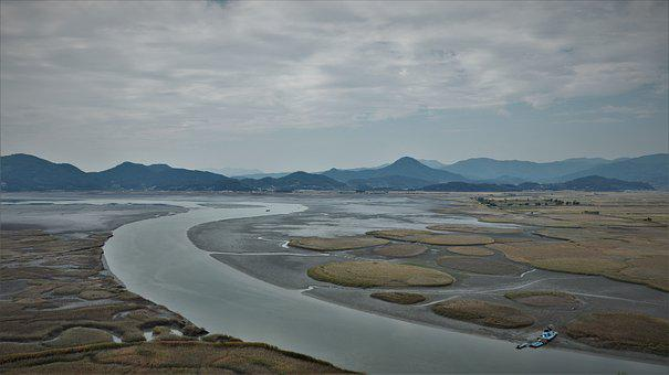 River, Tidal, Dawn, The River, Line, Ninth, Photo Frame