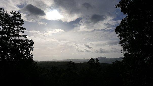 Sky, Mountains, Nature, Landscape, Sun, Tourism, Sunset
