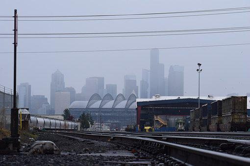 Seattle, Fog, Washington, Northwest, Usa, Pacific
