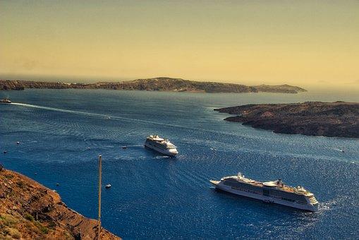 Santorini, Greece, Landscape, Water, Tourism, The Coast